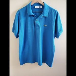 Lacoste Blue Short Sleeved Polo Size XL